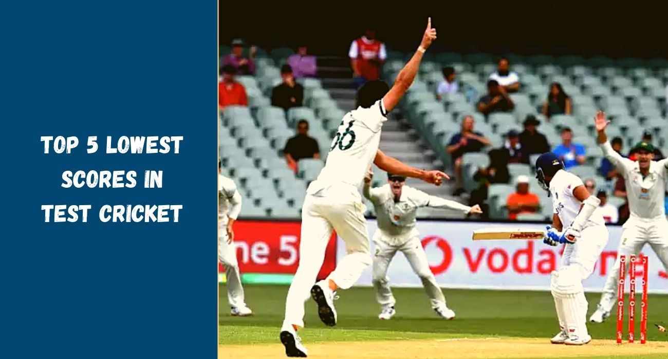 Top 5 Lowest Scores In Test Cricket Chase Your Sport Sports Social Blog